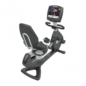 Life Fitness Platinum Club Series Recumbent Lifecycle� Exercise Bike with Engage 15""
