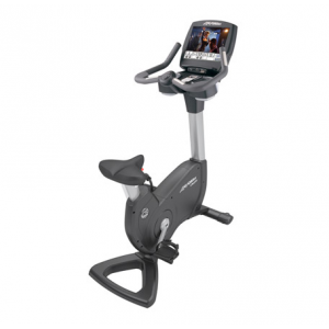 "Life Fitness Platinum Club Series Upright Lifecycle® Exercise Bike with Engage 15"" Console"