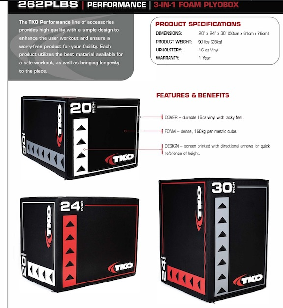 TKO 3-N-1 FOAM PLYO BOX